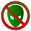 No alien — Stock Vector