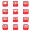 Royalty-Free Stock Vector Image: Big set web of red icons