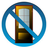 No exit icon — Stock Vector