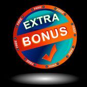 Blue bonus icon — Stock Vector