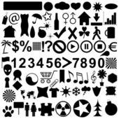 Duże ikony zestaw — Wektor stockowy