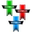 Stock Vector: Three bestseller icons