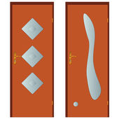 Two doors — ストックベクタ