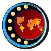 Dünya simgesi — Stok Vektör