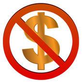 No dollar — Stock Vector