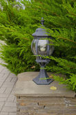 Small lamp in park — Stock Photo