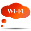 Stock Vector: Wi fi web icon