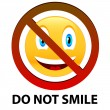 Stock Vector: Do not smile