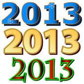 Set van nieuwjaar pictogrammen — Stockvector