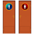 Two doors — Stock Vector