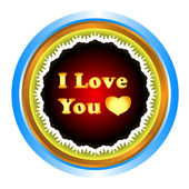 I love you — Stock Vector