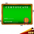 Stock Vector: New best certificate
