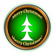 Merry Christmas icon — Stock Vector #14126161