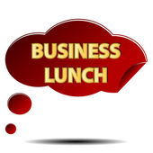 Business lunch logo — Stock Vector