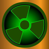 Radioactive icon — Stock Vector