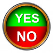 Button yes and no - Vektorgrafik