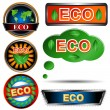 Eco logo set — Stock Vector