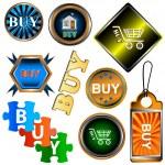 Buy icons set — Stock Vector