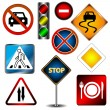 Set of road signs — Stock Vector #14700209