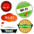 Stock Vector: Wi fi logos set