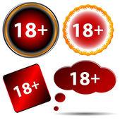 Eighteen plus set — Stock Vector