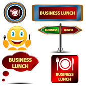 Business lunch set — Stock Vector