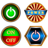 Machtsverzameling knoppen — Stockvector