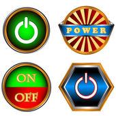Power knapparna set — Stockvektor