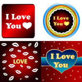 I love you set — Stock Vector