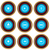 Player icons set — Stock Vector