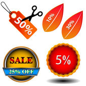 Sale logo set — Stock Vector