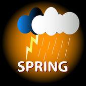 Spring logo — Stock Vector