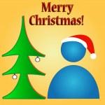 Merry Christmas logo — Stock Vector #15695851