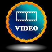 Video logo — Stock Vector