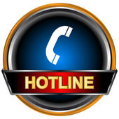Hotline logo — Stock Vector