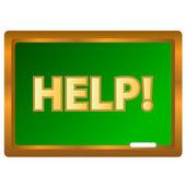 Help-logo — Stockvector
