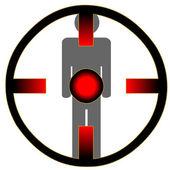 Man onder schot — Stockvector