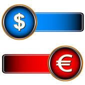 Deux symboles de devises — Vecteur