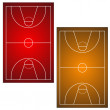 Two basketball fields - Stock Vector