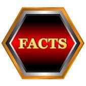 факты логотип — Cтоковый вектор