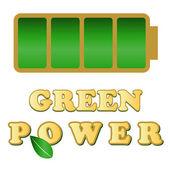 Green power — Stock Vector