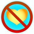 No heart - Stock Vector