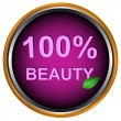 New beauty icon - Stock Vector