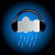 Cloud in headphones — Stock Vector