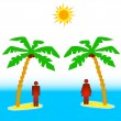 Two islands — Stock Vector