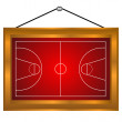 Basketball platform in a frame — Stock Vector
