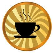 コーヒーのアイコン — ストックベクタ
