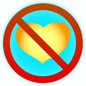 No heart — Stock Vector