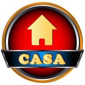 Logo casa web — Vettoriale Stock