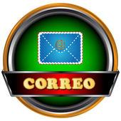 Icona verde posta — Vettoriale Stock